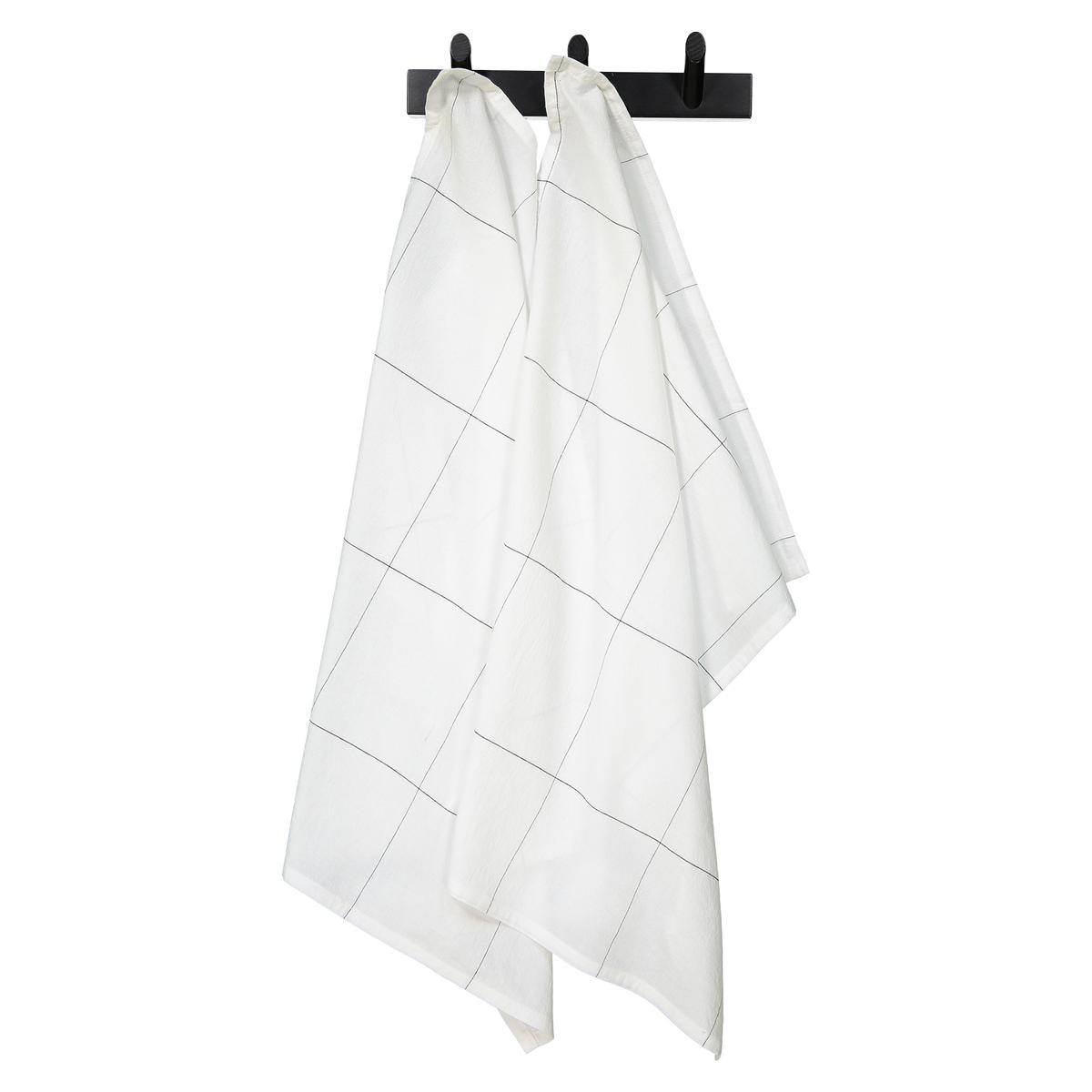 Комплект из 2 кухонных полотенец из хлопка и льна CARREAUX полотенца кухонные la pastel комплект кухонных полотенец gabel 6пр 50x70 primizie