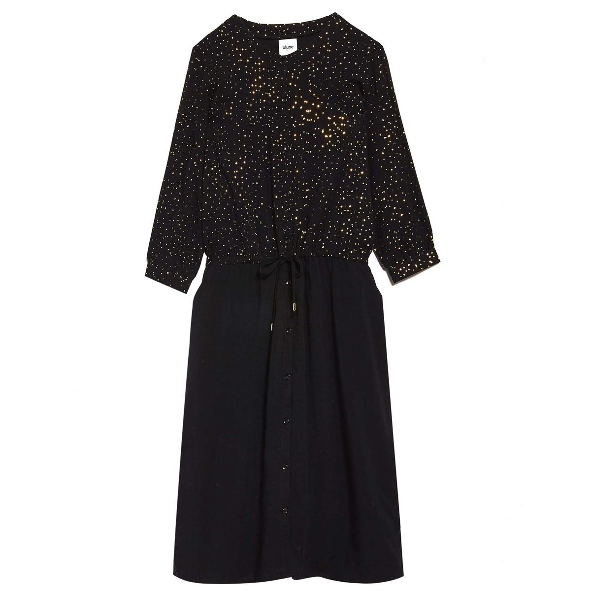 Платье с рукавами 3/4 и завязками на талии STARDUST
