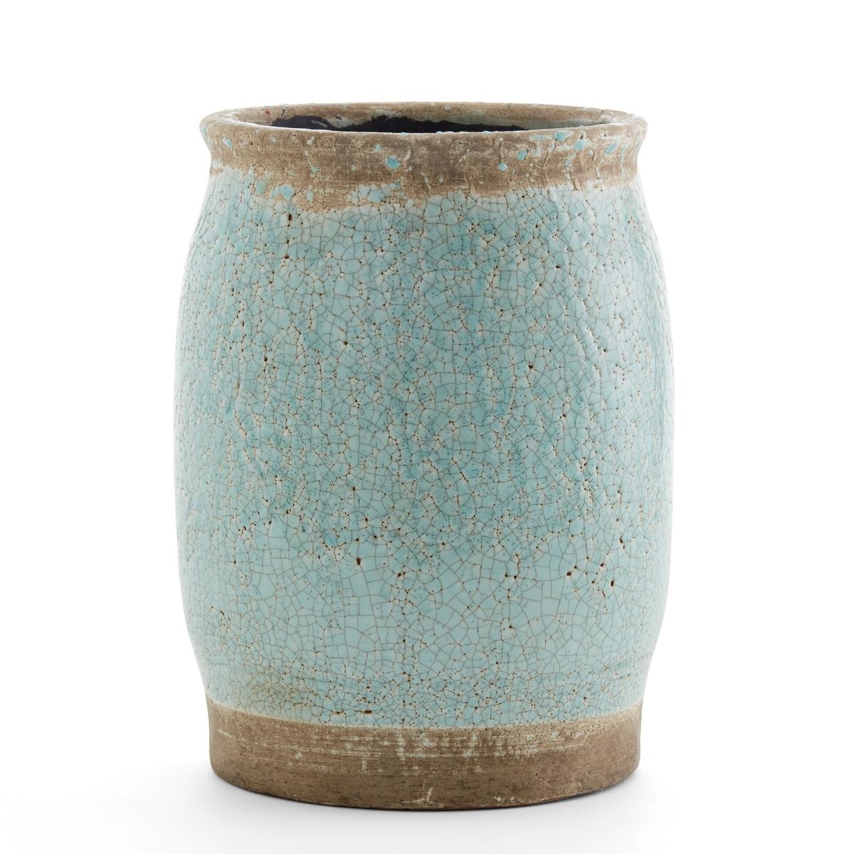 Кашпо из керамики, В30 см, EuphylliaКашпо Euphyllia. Идеальное кашпо, чтобы подчеркнуть ваши растения. Из керамики, покрытой глазурью, отделка в виде сети трещин. Размеры: ? 22 x В30 см.<br><br>Цвет: голубой