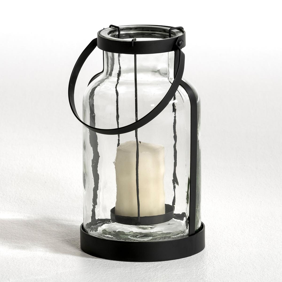 Фонарь, EsseltФонарь Esselt. Отличный фонарь для террасы или сада, чтобы освещать вечеринки. Из прозрачного стекла и металла. Ручка для переноски. Съемная подставка для свечи ?7 x В.10 см максимум. Размеры. : диаметр внизу 18,5 см, диаметр вверху 16,5 см, В.35 см.<br><br>Цвет: прозрачный