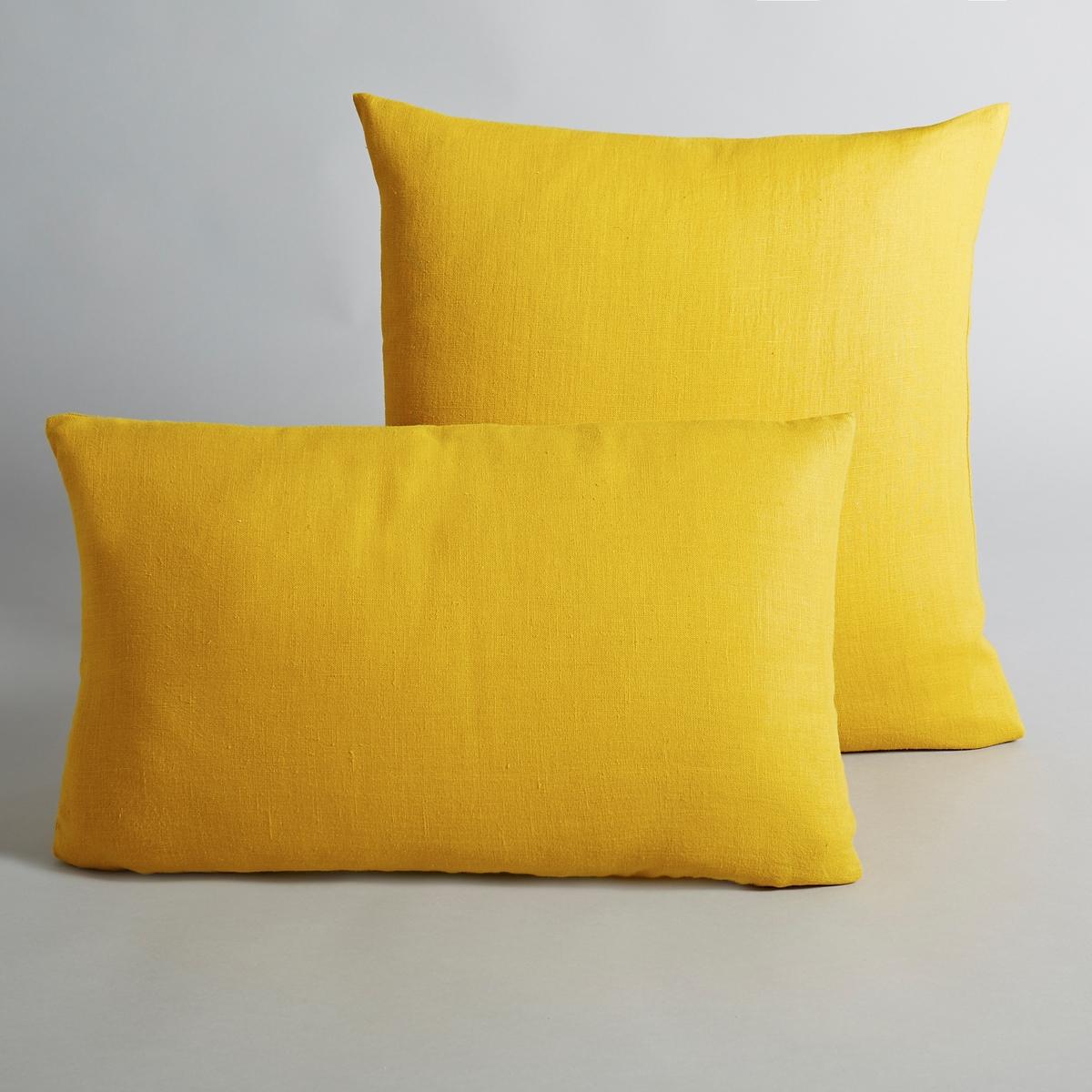 Льняной La Redoute Чехол для подушки Georgette 50 x 30 см желтый чехол la redoute для подушки fordell 50 x 30 см бежевый