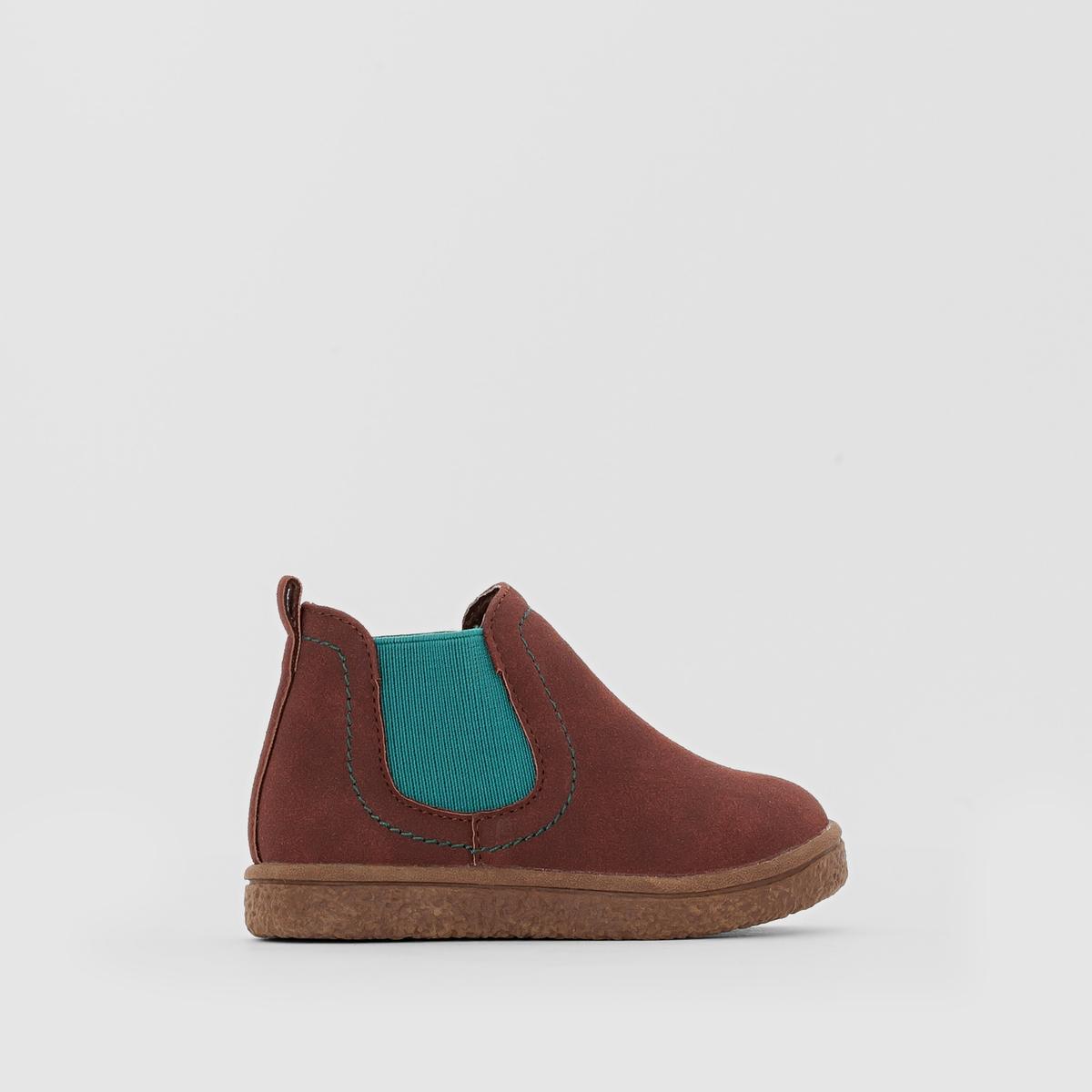 Ботинки двухцветные в стиле челси от La Redoute