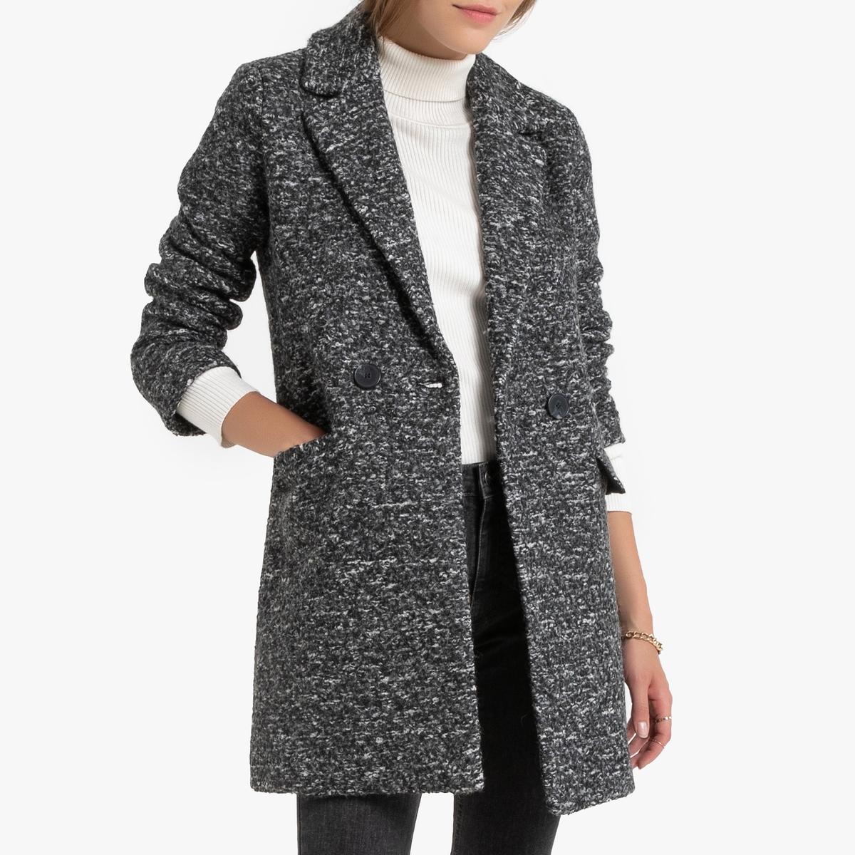 все цены на Пальто La Redoute Средней длины с застежкой на пуговицы XS серый онлайн