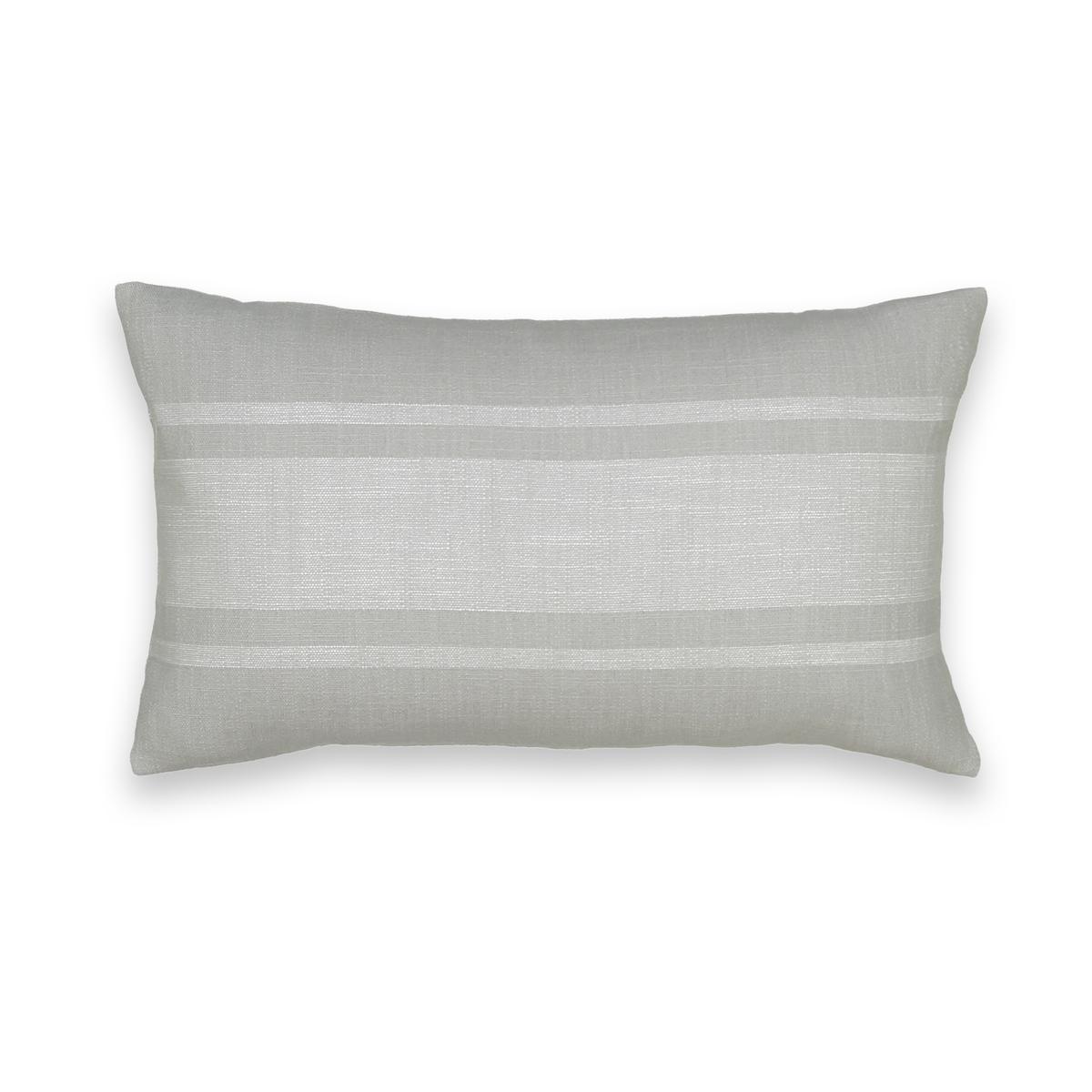 Чехол La Redoute На подушку или наволочка ZIRA 65 x 65 см серый наволочка la redoute flooch 50 x 30 см бежевый