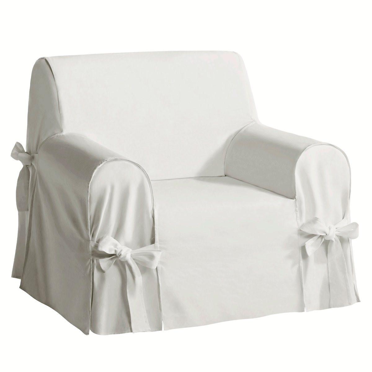 Чехол LaRedoute Для кресла из льна и хлопка JIMI единый размер белый