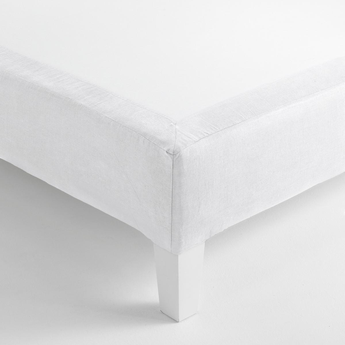 Чехол LaRedoute Для кровати из льнахлопка Gram 2 x 80 x 200 см белый чехол laredoute для кровати 100 льна 160 x 200 см белый