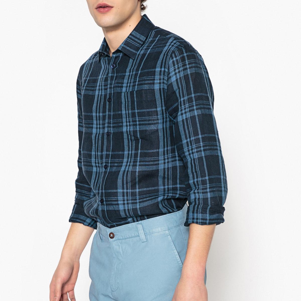 Рубашка узкого покроя в клетку рубашки mavango рубашка