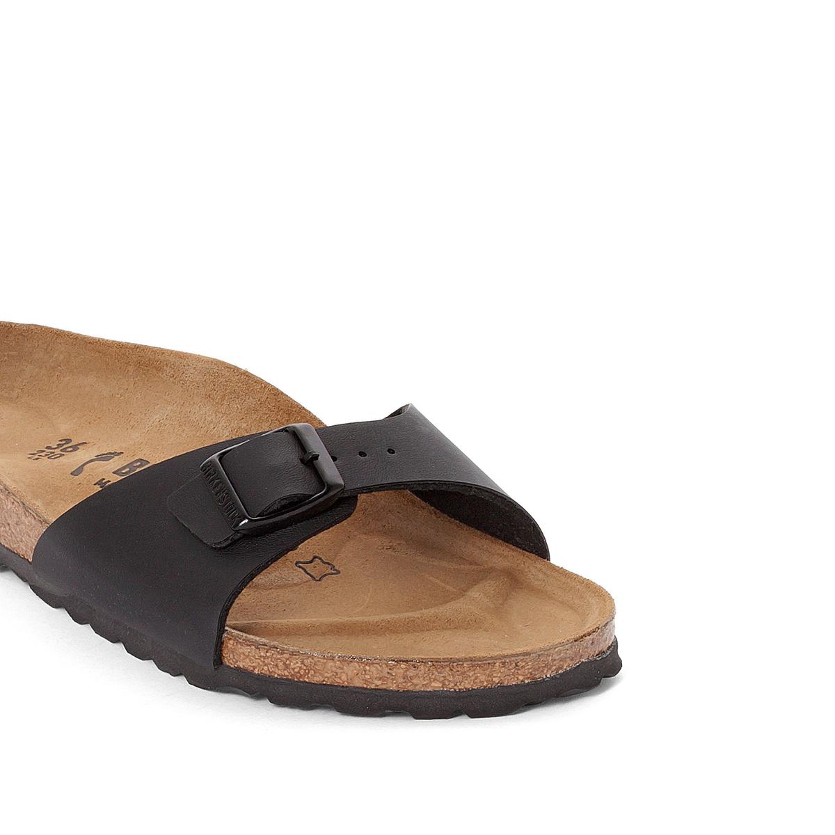 Туфли без задника MADRIDОписание:Детали •  Вьетнамки •  Застежка : без застежки •  Открытый мысокСостав и уход •  Верх 100% синтетический материал •  Подкладка 100% текстиль •  Стелька 100% кожа •  Подошва 100% ЭВА<br><br>Цвет: черный