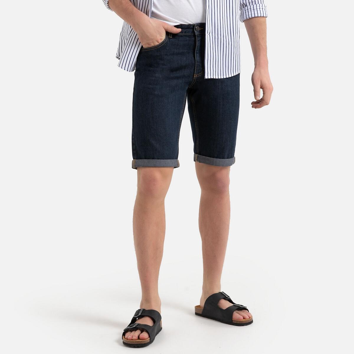 Бермуды La Redoute Из джинсовой ткани 44 (FR) - 50 (RUS) синий бермуды la redoute из джинсовой ткани jjirrick jjicon s синий