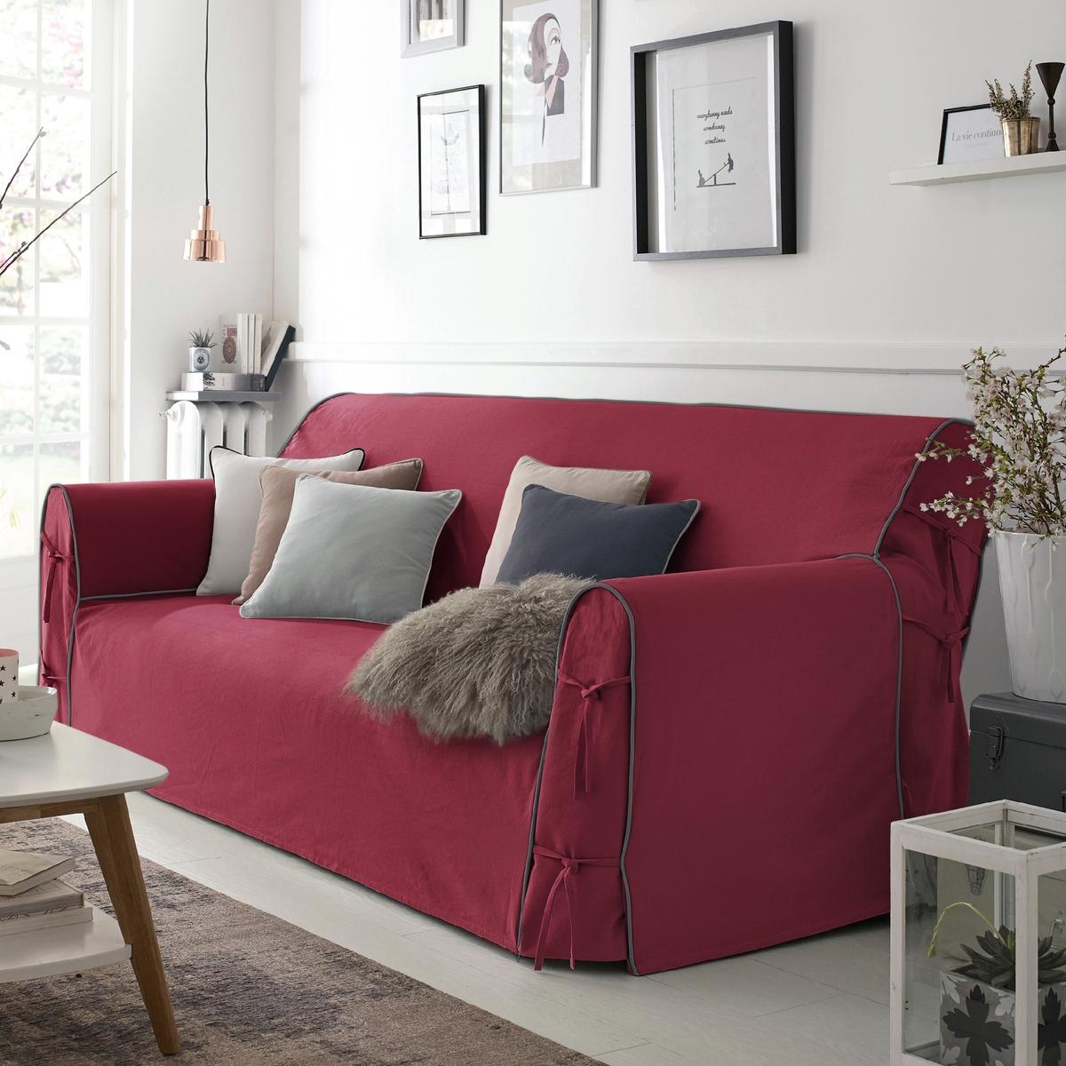 Чехол для дивана, BRIDGY.Характеристики чехла для дивана:Знак качества Valeur S?re: 100% хлопка. Большие подлокотники, регулируемые завязками. Отделка контрастным кантом.Стирка при 40°C.Размеры чехла для дивана:Общие. размеры: общ. высота: 102 см, глуб. сиденья: 60 см. 2-мест. : шир. 142 см максимум,2-3 мест. : шир. 180 см максимум,3-мест. : шир. 206 см максимум.Сертификат Oeko-Tex® дает гарантию того, что товары изготовлены без применения химических средств и не представляют опасности для здоровья человека.<br><br>Цвет: бордовый/антрацит,Сине-зеленый/черный