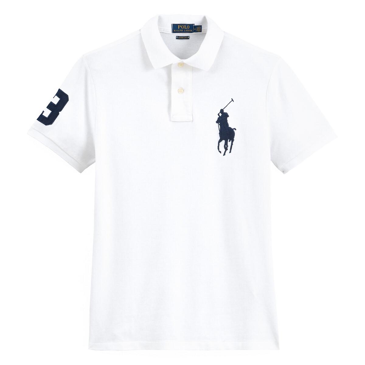 Футболка-поло LaRedoute Прямого покроя из трикотажа пике XL белый футболка поло la redoute прямого покроя из трикотажа пике s серый