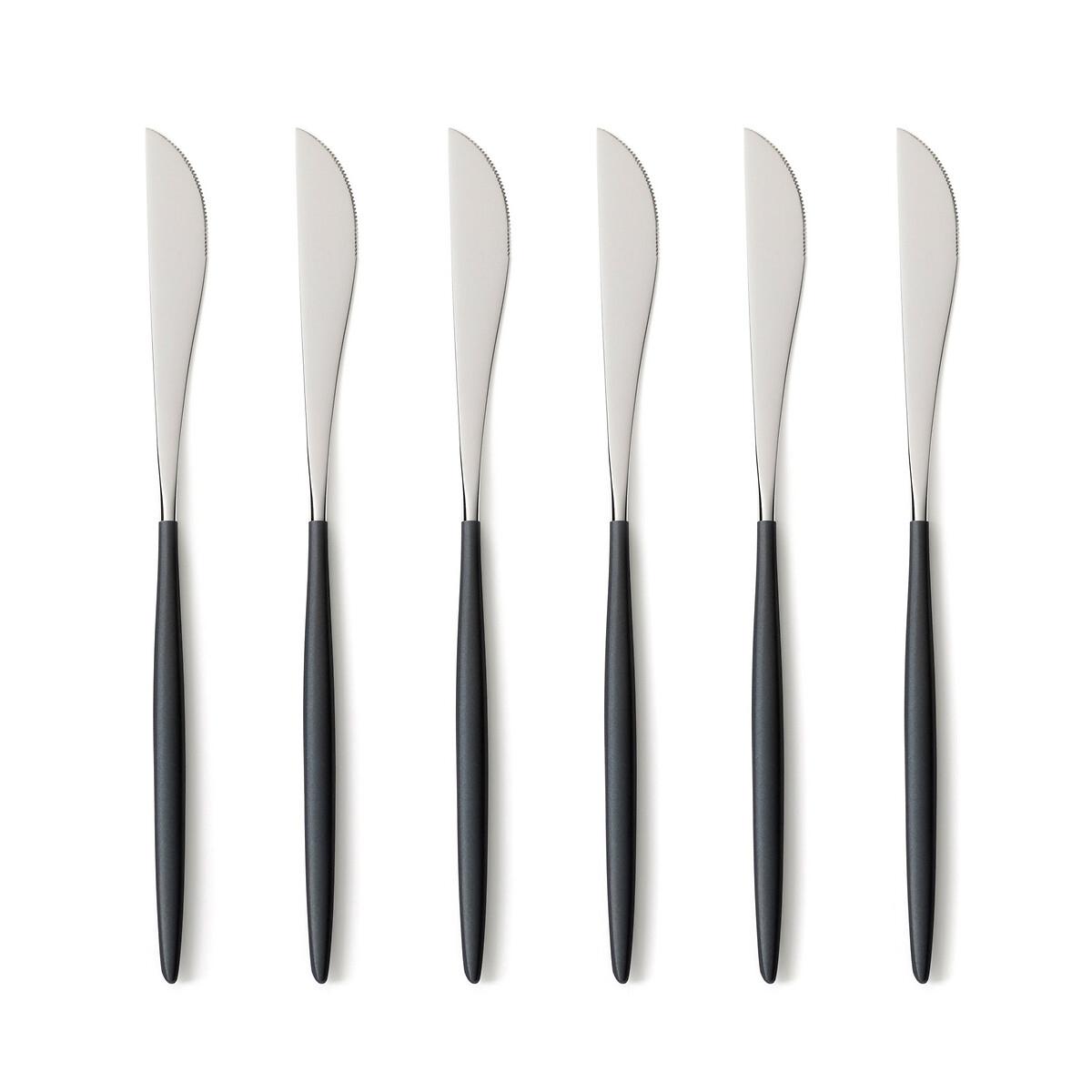 Фото - Набор LaRedoute Из 6 ножей из нержстали Barbule единый размер черный корзинка laredoute с пластиковой ручкой единый размер черный