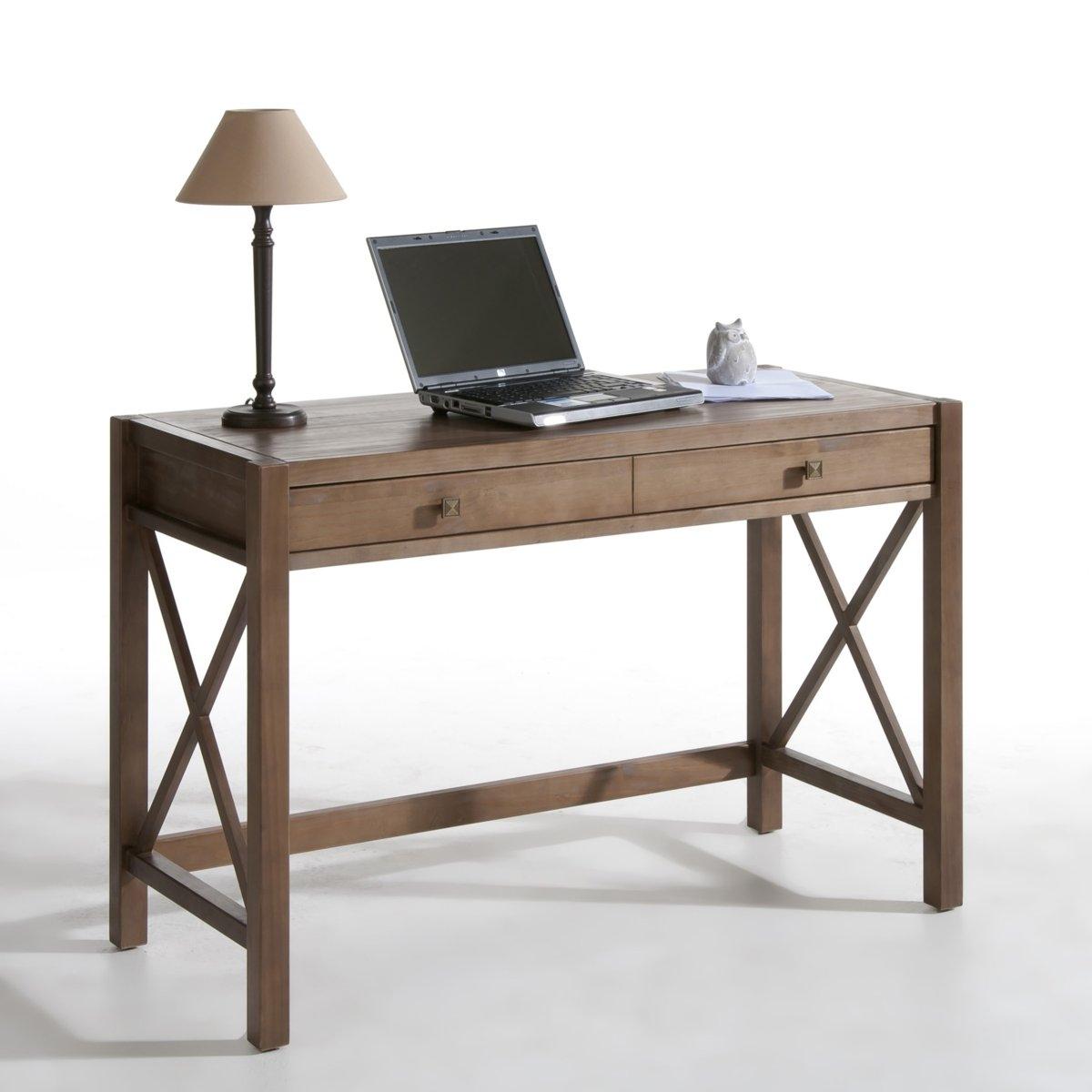 Стол письменный из массива сосны, окраска под тик Derry
