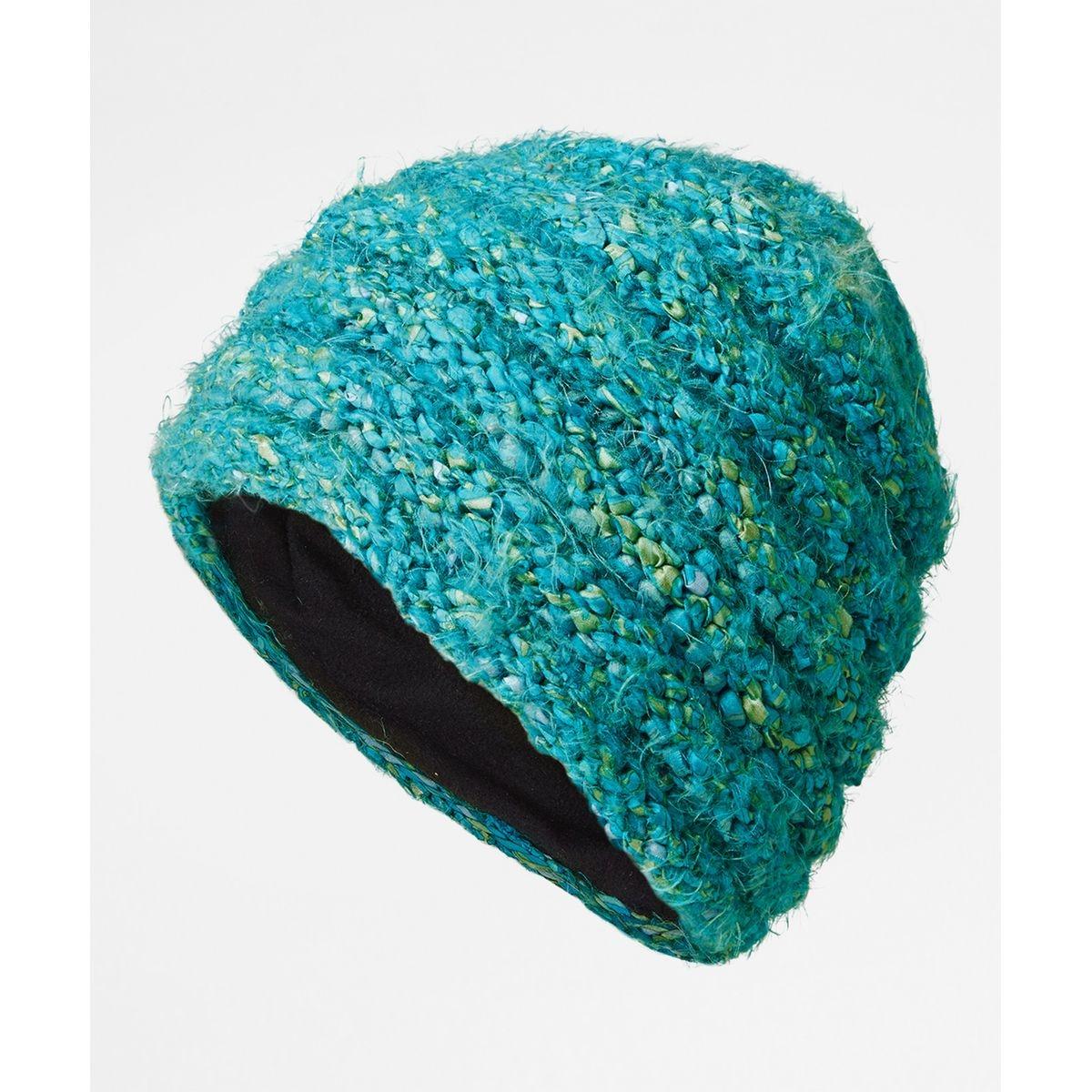 Bonnet en laine tricoté coloré
