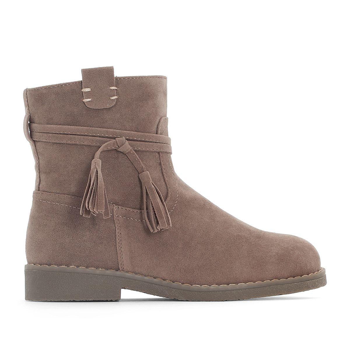 Boots à pompons fourrée 28-34