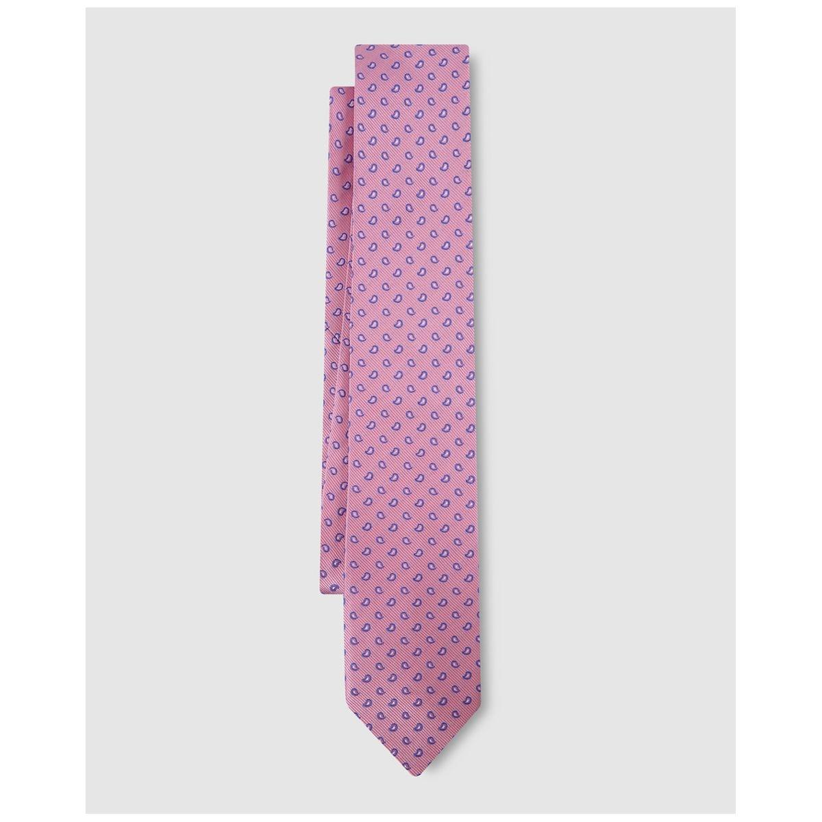 Cravate en soie à motif cachemire /