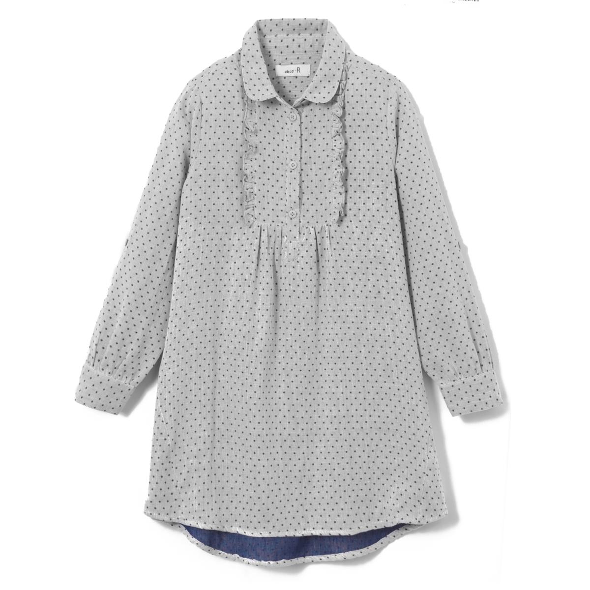 Платье-рубашка в горошек 3-12 лет
