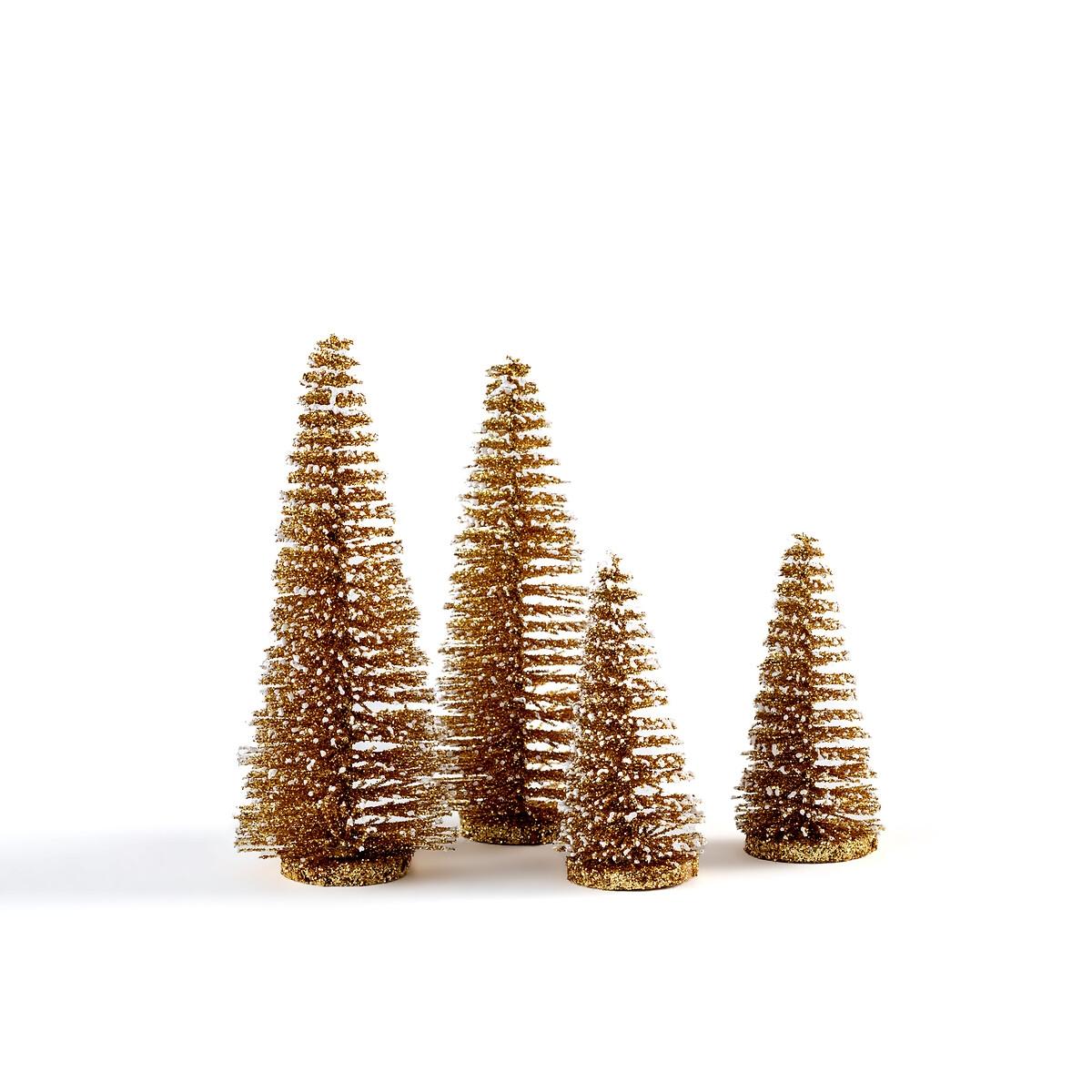 Фото - Набор LaRedoute Из 4 маленьких декоративных елочек Caspar единый размер желтый caspar lee caspar lee