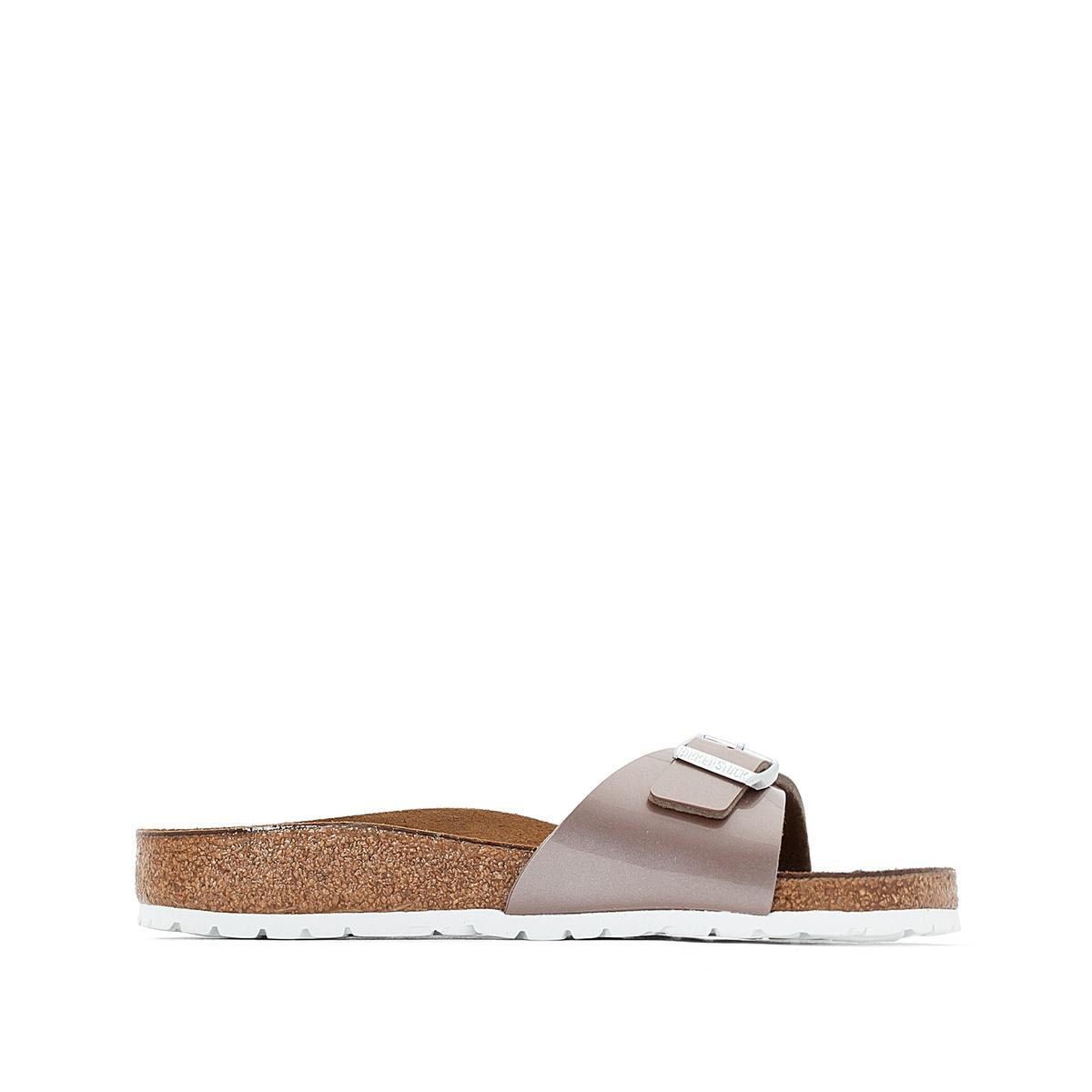 Туфли без задника MADRIDВерх : синтетический материал (Birko-Flor)                 Подкладка : фетр               Стелька : велюровая кожа               Подошва : ЭВА               Застежка : без застежки<br><br>Цвет: серо-коричневый лак