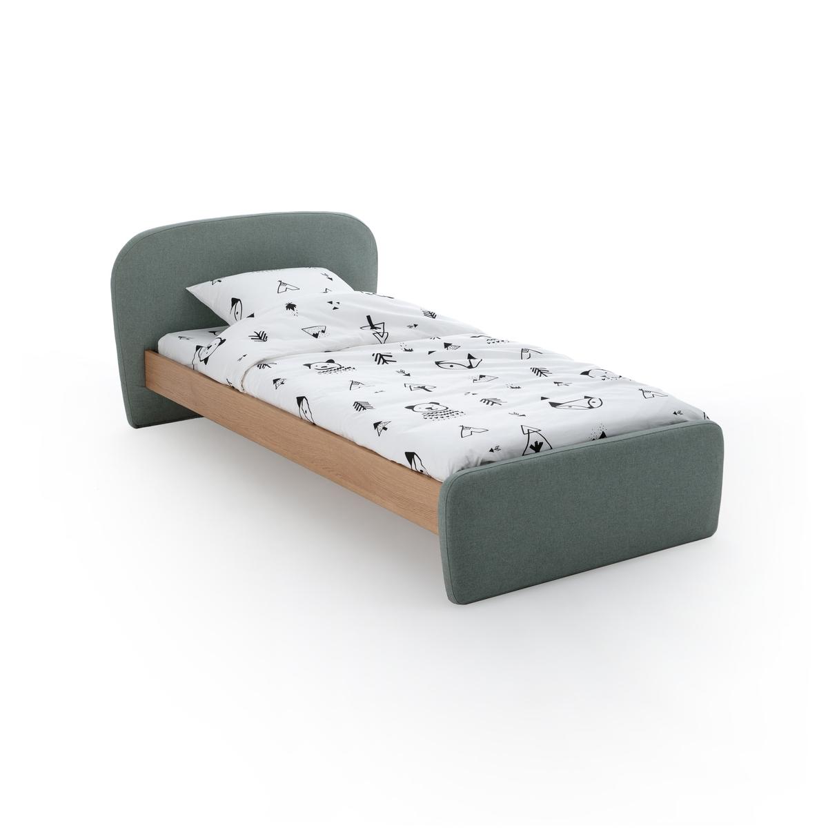 Кровать LaRedoute Детская с реечным основанием Comte 90 x 190 см бежевый кровать laredoute с ящиком отделениями для вещей и кроватным основанием yann 90 x 190 см белый
