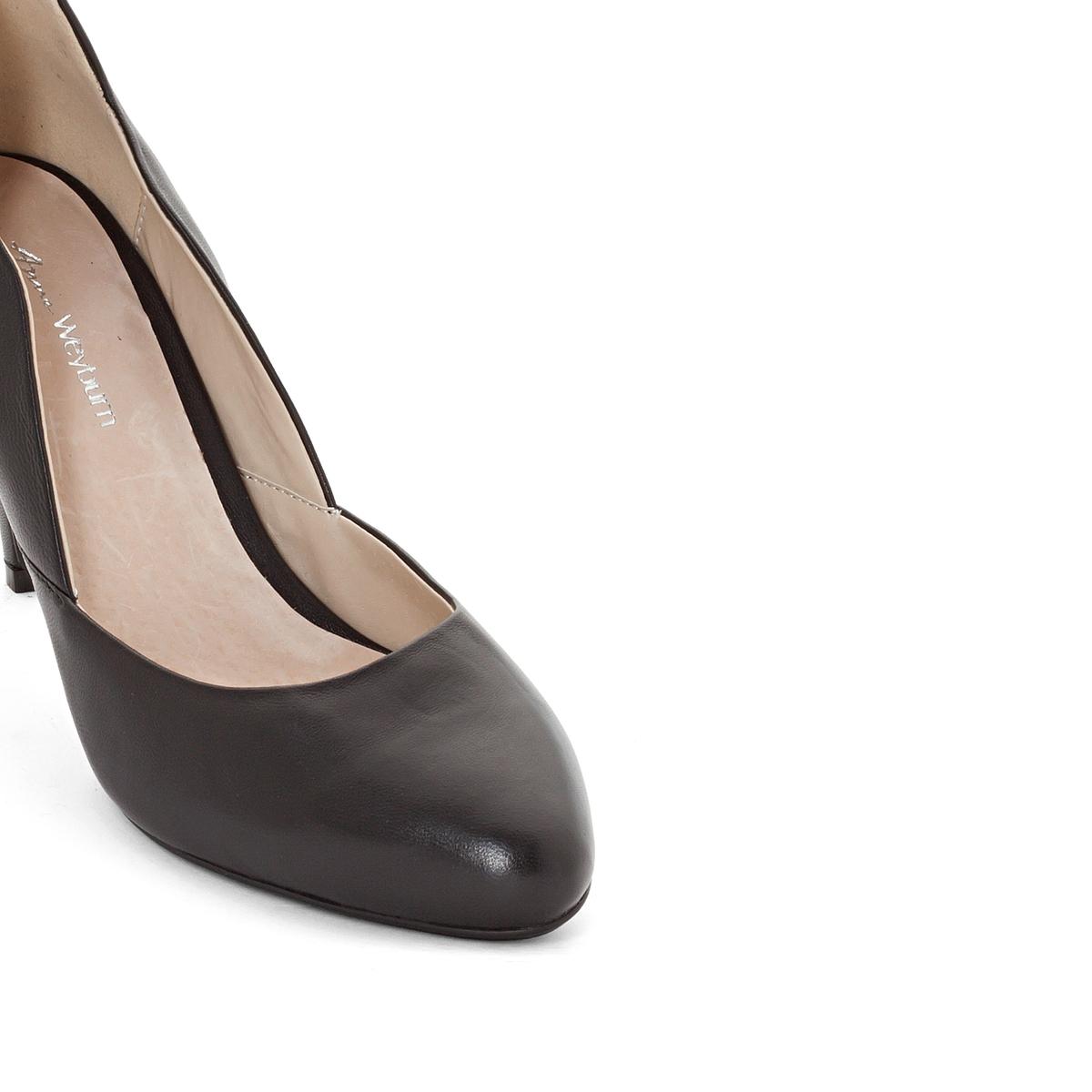 Туфли кожаныеОписание:Детали •  Каблук-шпилька •  Застежка : без застежки •  Открытый мысокСостав и уход •  Верх 100% замша<br><br>Цвет: золотистый,черный<br>Размер: 40.38.39