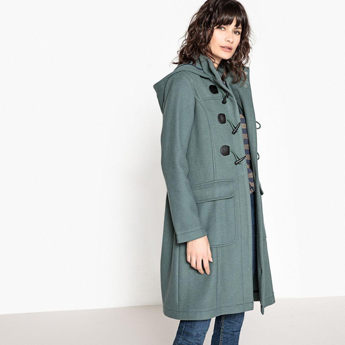 Duffle coat à capuche vert