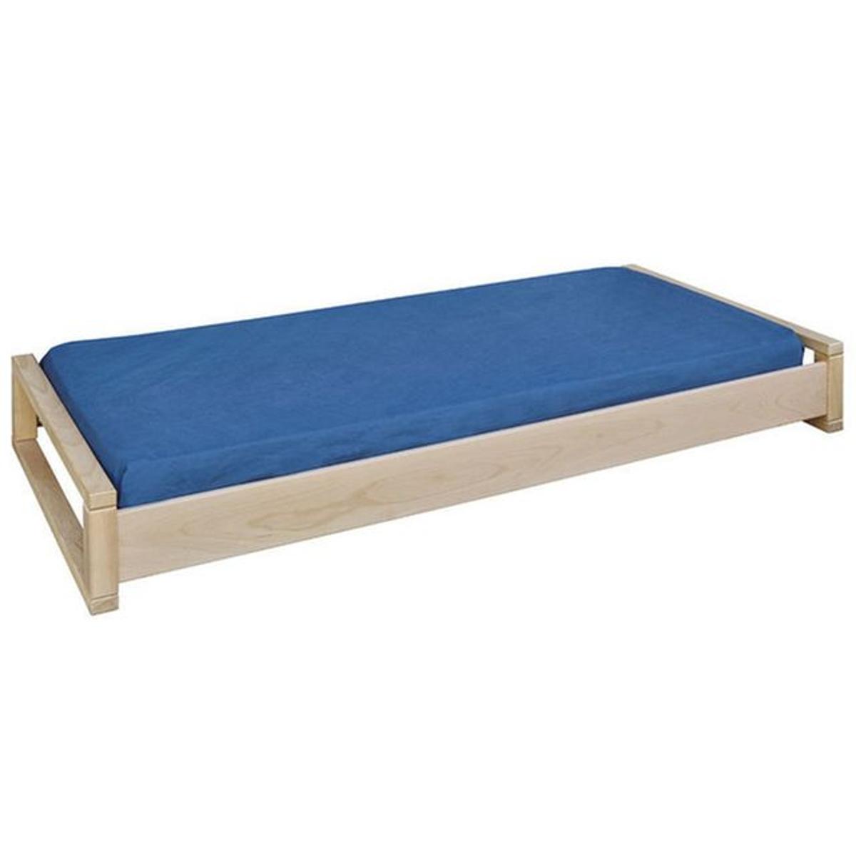 Pack lit empilable avec sommier et matelas Poka