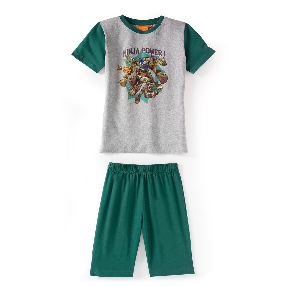 Пижама с шортами с принтом 2 - 12 лет