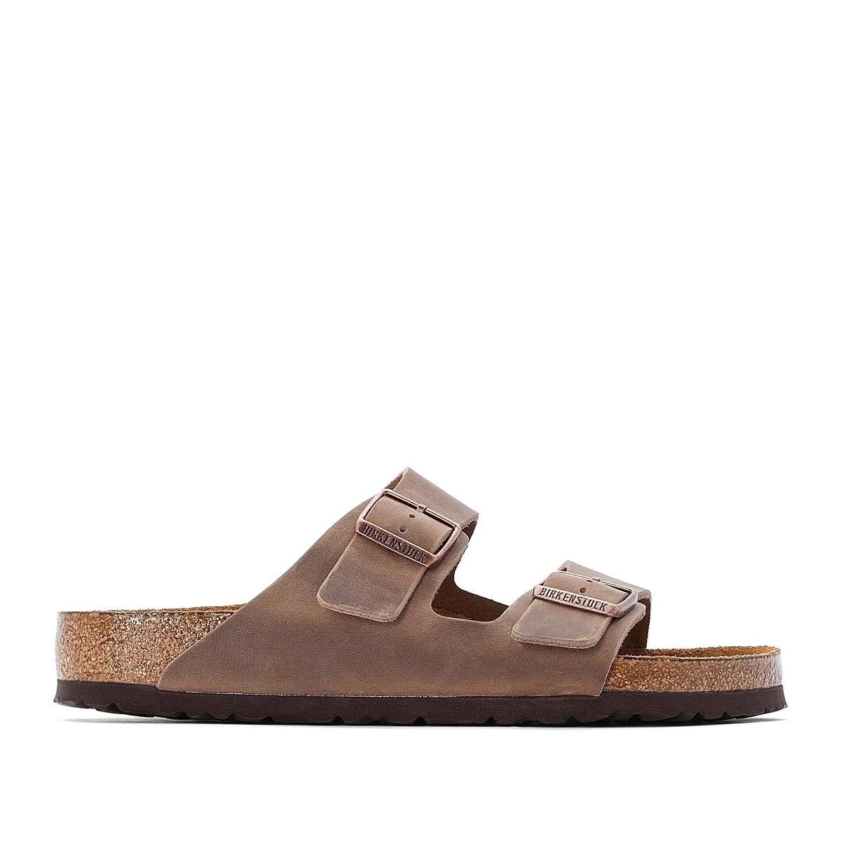 Туфли La Redoute Без задника из кожи Arizona 41 каштановый туфли без задника кожаные с блестящими деталями
