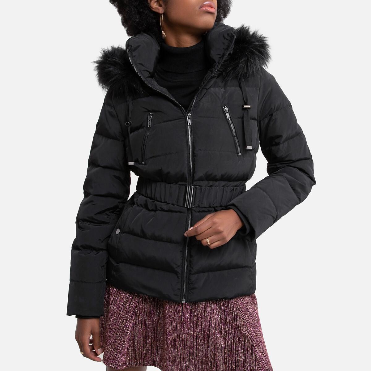 Doudoune courte à capuche, plein hiver