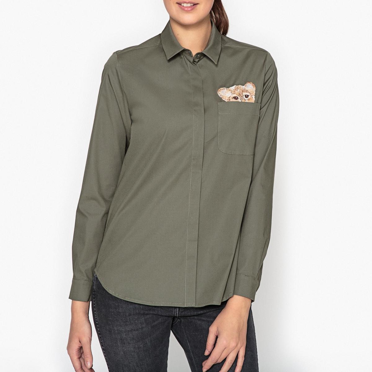 Рубашка с вышивкой LEO рубашка с вышивкой