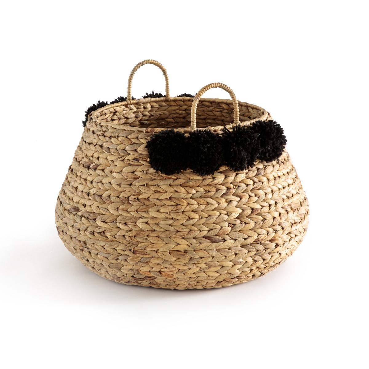 корзины составные из водного гиацинта 3 шт Корзина La Redoute Из водного гиацинта Ikoya единый размер черный
