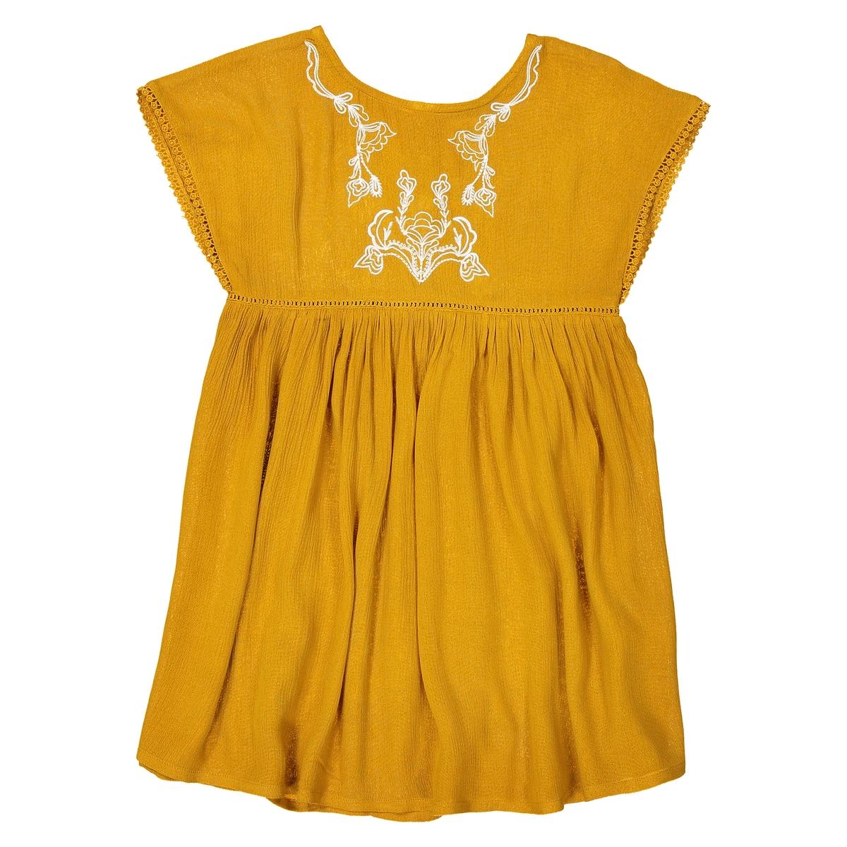 Платье с вышивкой 3-12 лет