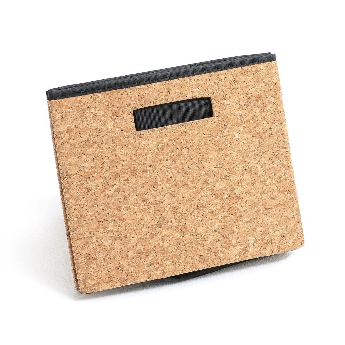 Коробка для хранения складная из пробки, размер MОписание:Коробка для хранения складная из пробки . Из натурального материала, отлично подойдет для хранения ваших книг, платков или других аксессуаров... Описание коробки : Из пробки Прямоугольная формаСкладной 2 ручки.Каркас из картона Подкладка из вшитого полиэстера Съемное дно Размеры :H25 x 40 x 30 см Расцветка : Натуральная Размеры и вес упаковки :38 x 6,5 x 31 см1,2 кг<br><br>Цвет: серо-бежевый