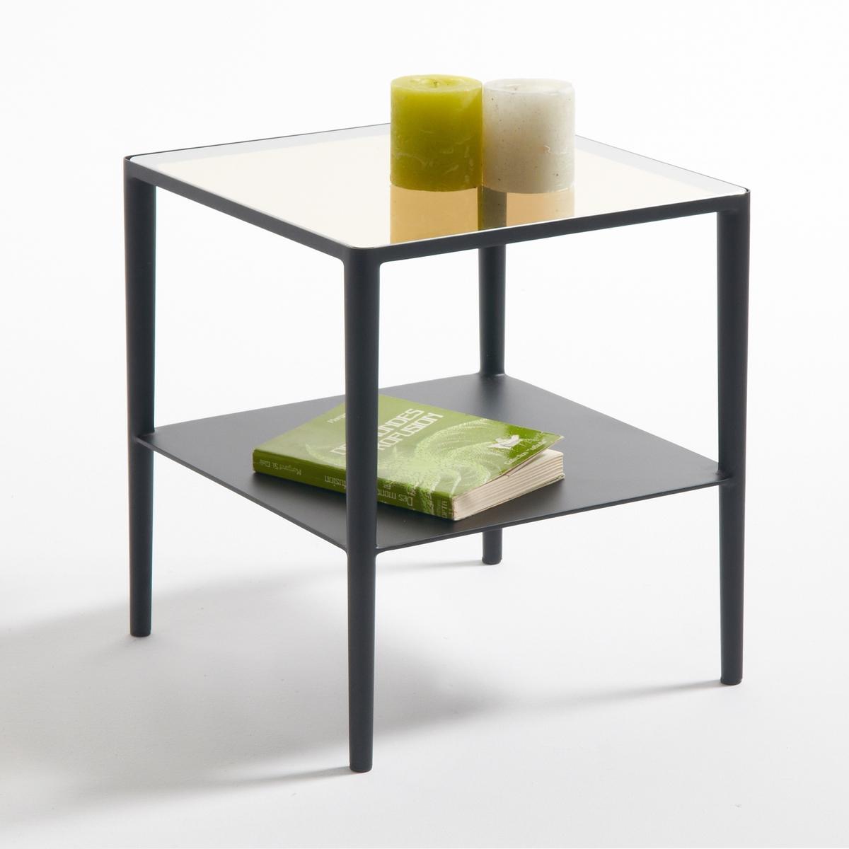 Tavolino, acciaio e vetro, Razzi