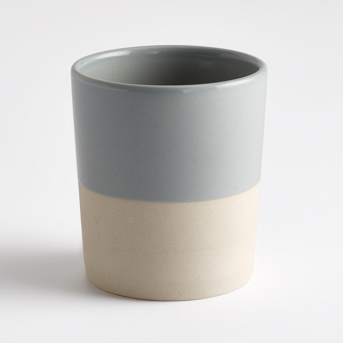 Комплект из 4 двухцветных чашек из керамики, Warota