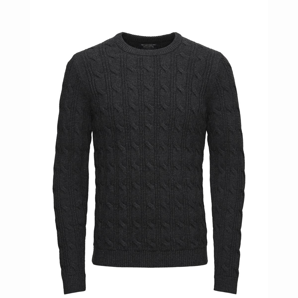 Пуловер GRANARDСостав и описаниеМатериал: 60% хлопка, 30% полиамида (нейлон), 10% шерсти.Марка: JACK &amp; JONES VINTAGE.<br><br>Цвет: темно-серый