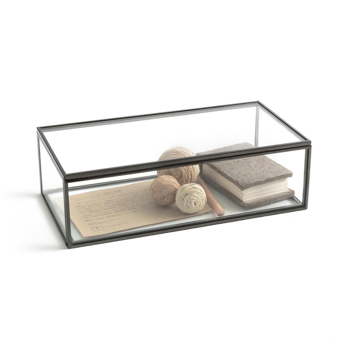 Коробка-витрина, Ш30 x В9 x Г15 см, DigoriКоробка Digori. Коробка для хранения и демонстрации украшений, драгоценностей и других ценных предметов.Характеристики:- Из стекла и металла под латунь или оружейную сталь.- Очень качественная отделка.Размеры :- Ш30 x В9 x Г15 см- Толщина стекла: 0,4 мм<br><br>Цвет: латунь,темно-серый металл