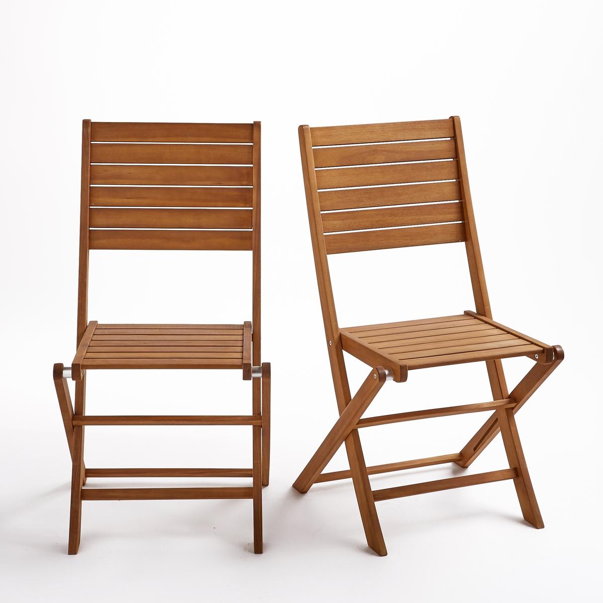 Комплект из 2 складных стульев из эвкалипта, Euka