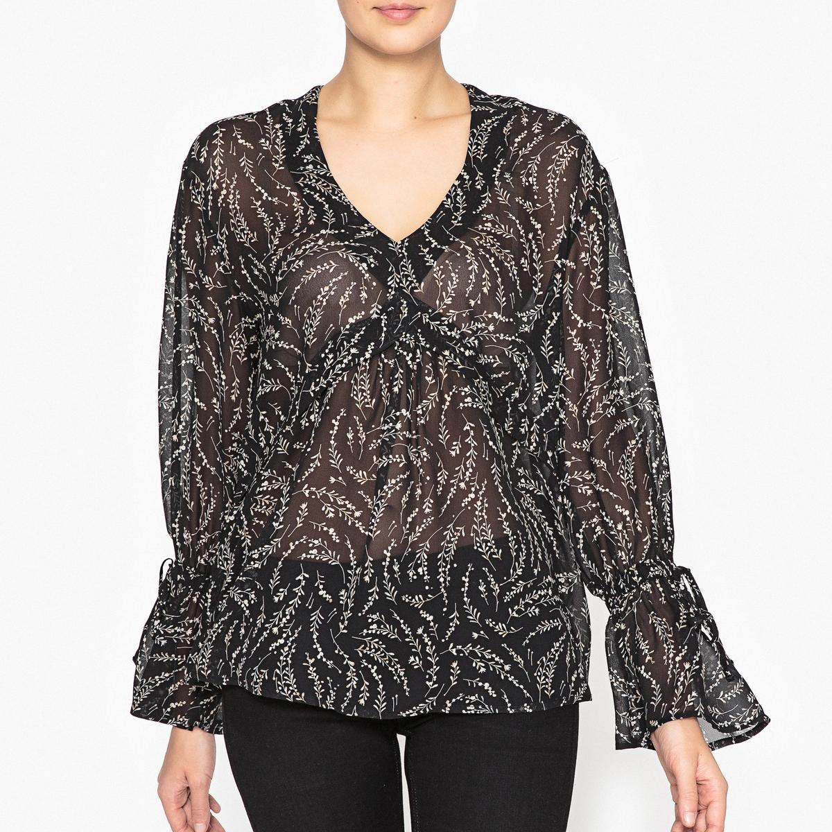 Блузка с воланами блузка с воланами из хлопка