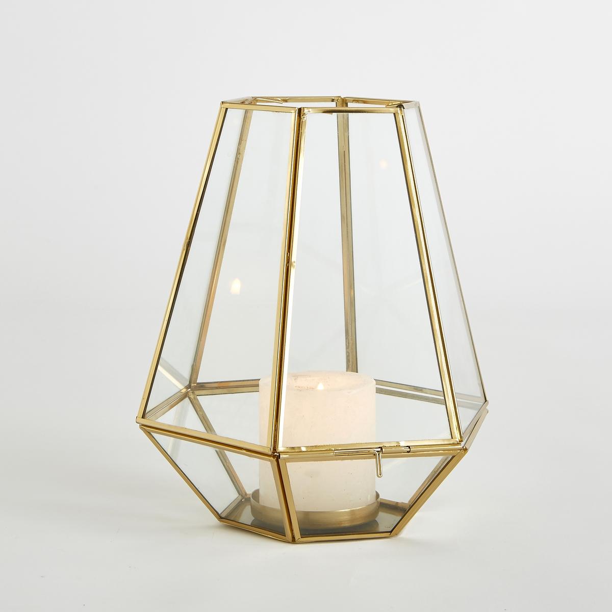 Подсвечник из стекла и металла Miludi декоративные свечи ганг подсвечник madeleine 8х15х17 см