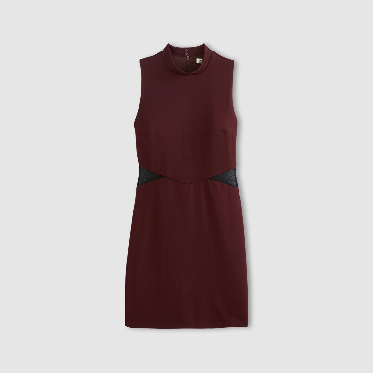 Платье облегающее без рукавовСостав и описаниеМатериал: 95% полиэстера, 5% эластана.Подкладка: 100% полиэстер.Марка: MOLLY BRACKEN.УходСтирать при 30°C с вещами подобныхцветов.  Стирать и гладить с изнанки.<br><br>Цвет: зеленый,красный темный<br>Размер: M.M.S