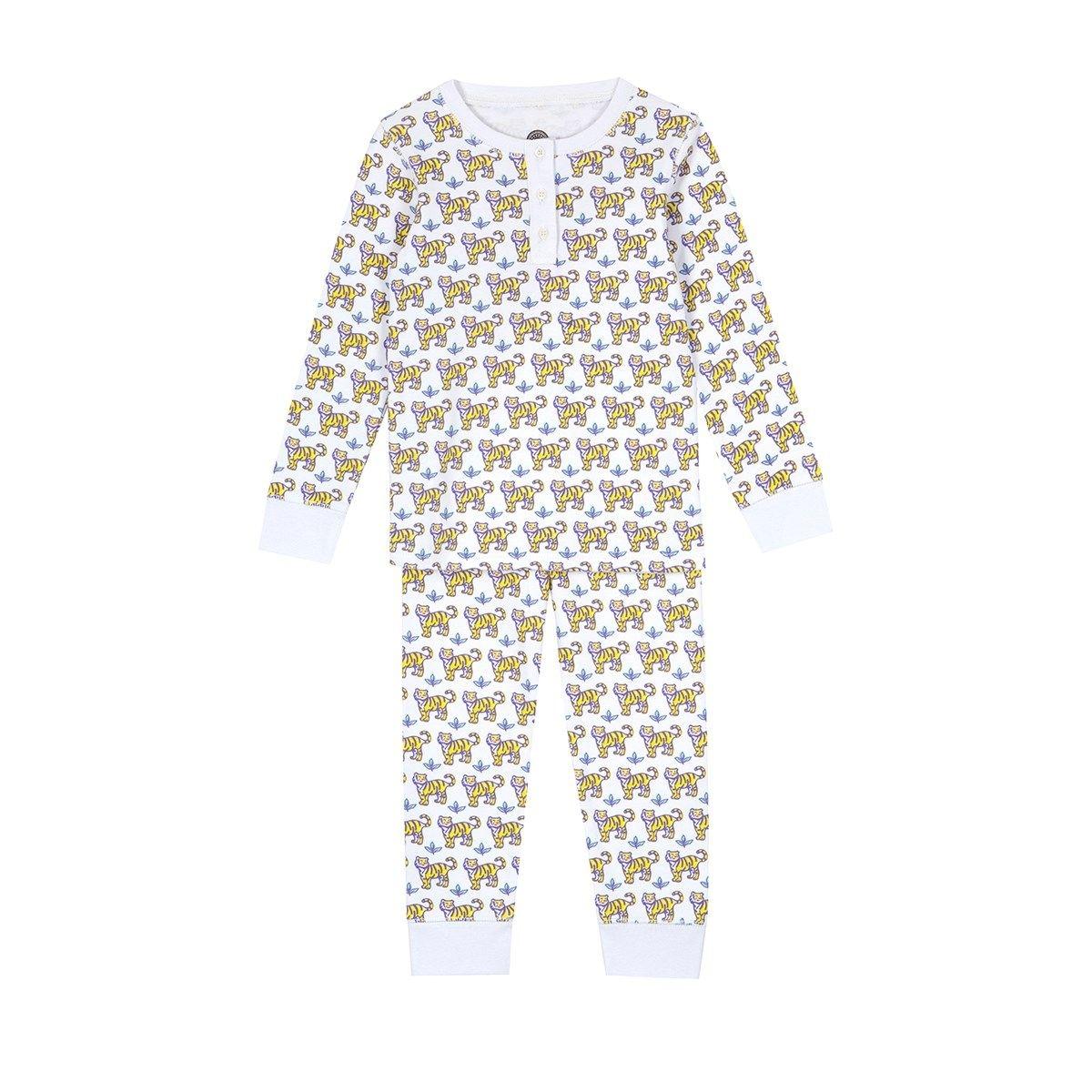 Pyjama bébé en coton bio - imprimé Sunny Tiger