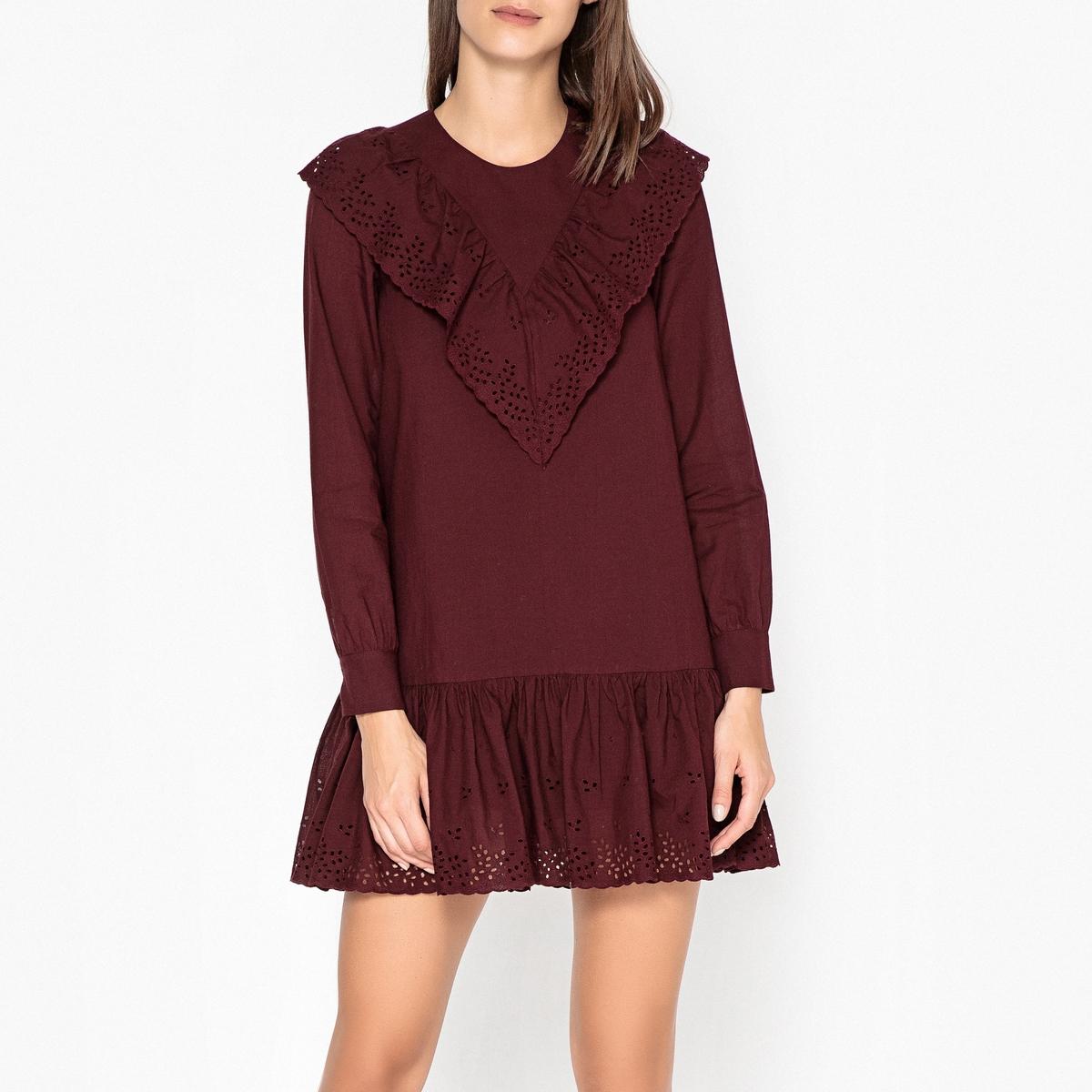 цены Платье с воланом и английской вышивкой ORLANE
