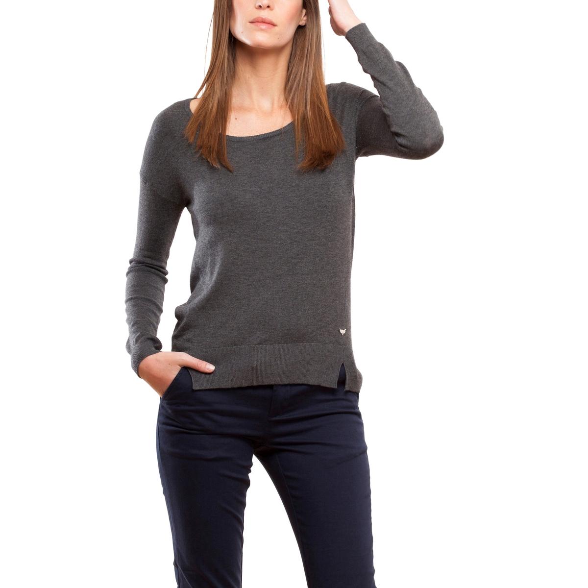 Пуловер с круглым вырезом из тонкого трикотажаОписание:Детали •  Длинные рукава •  Круглый вырез •  Тонкий трикотаж Состав и уход •  78% вискозы, 3% эластана, 19% полиамида •  Следуйте советам по уходу, указанным на этикетке<br><br>Цвет: антрацит,хаки