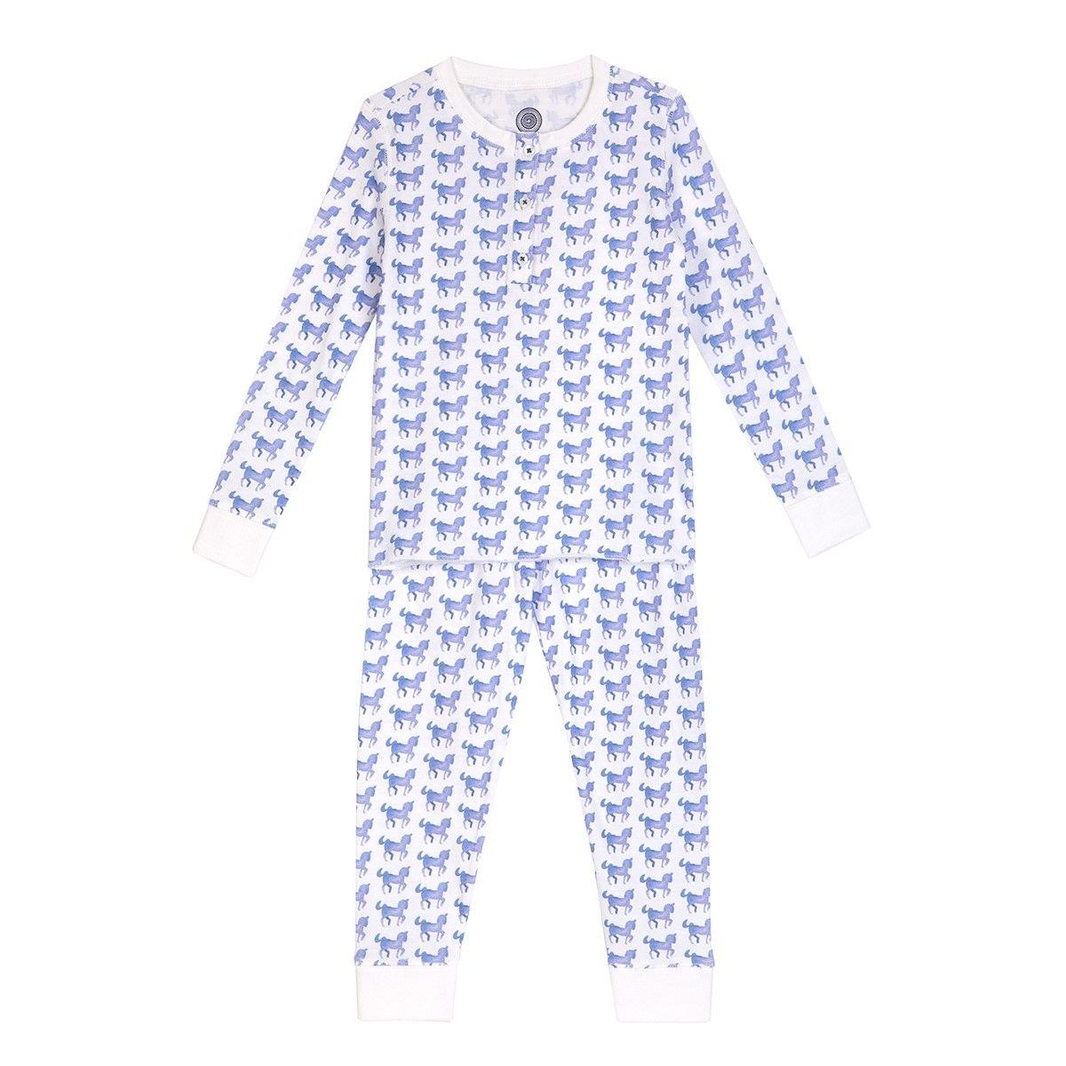 Pyjama enfant en coton bio - Imprimé Cheval