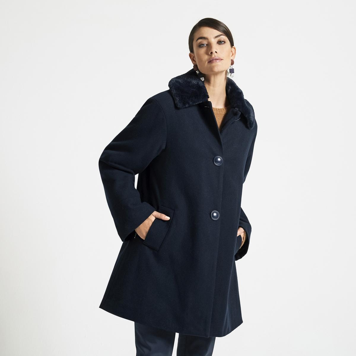 Imagen principal de producto de Abrigo, lana mezclada, con forro acolchado - Anne weyburn