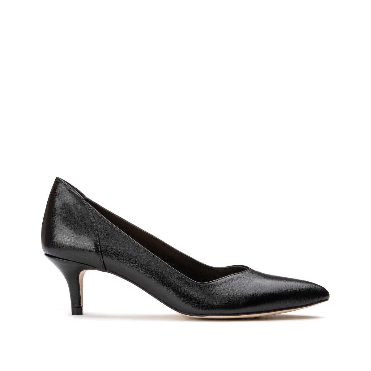 Туфли LaRedoute Из кожи на каблуке-шпильке 38 черный