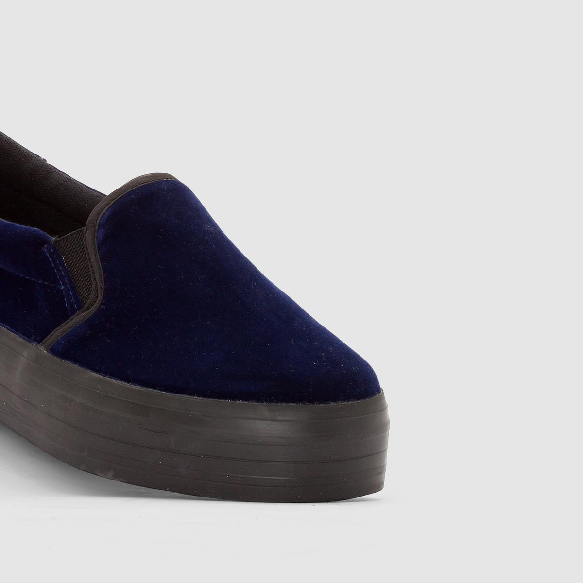Слипоны на платформеВерх : текстильПодкладка : синтетикаСтелька : текстильПодошва : эластомерЗастежка : без застежки, эластичные вставки по бокам.Марка: R Edition. Преимущества : низкие кеды, оригинальная платформа, удобная обувь на каждый день.<br><br>Цвет: бордовый,синий морской