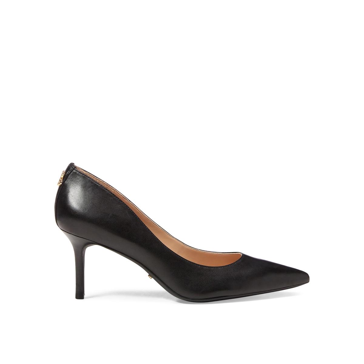 Туфли LaRedoute Из кожи на каблуке-шпильке 40 черный